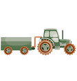 transport tractor with trailer for agricultural vector image vector image