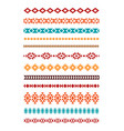 tribal geometric borders vector image vector image