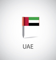 UAE flag pin vector image vector image