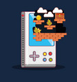 video game design vector image vector image