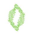 vintage green monoline calligraphy flourish vector image