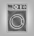 washing machine sign pencil sketch vector image