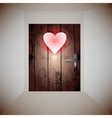 wood door love vector image