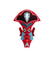 zulu mask with traditional ornament aboriginal vector image vector image