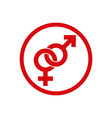 Male and female symbols combination icon isolated vector image
