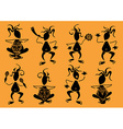 Set of funny African musicians icons vector image