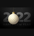 2022 happy new year luxury greeting card vector image vector image
