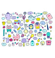 a set household items dishes toys everything vector image vector image
