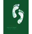 abstract blue and green leaves footprints vector image vector image