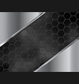 abstract silver and black background with hexagons vector image vector image