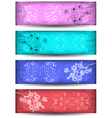 Banners with floral branch and ornament vector image