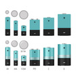 battery size vector image