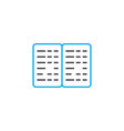 braille book thin line stroke icon braille vector image vector image