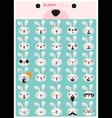 Bunny emoji icons vector image vector image