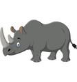 cartoon rhino mascot vector image