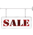 Chain metal sign Sale vector image vector image