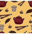 Chinese tea ceremony pattern vector image vector image