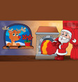 christmas indoor theme 9 vector image vector image