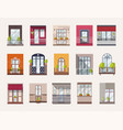 collection of windows and balconies of modern and vector image vector image