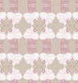 Cupcake pattern Doodle style vector image