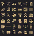 data security icons set simple style vector image vector image