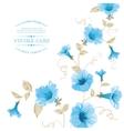 design vintage floral card vector image