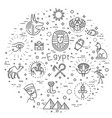 egypt icons and design elements isolated vector image vector image