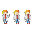 explainer doctor character design vector image vector image