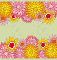 floral back hand-drawn flowers vector image