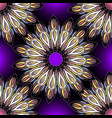 floral colorful ornamental seamless pattern round vector image vector image