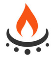 gas burner jet flame flat icon vector image vector image