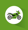 green motorcycle transport vehicle image vector image
