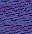 halloween bats pattern vector image vector image