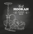 hand drawn hookah vector image vector image