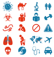 Icon set of Mers virus vector image