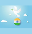india independence day celebration with pigeon