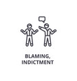 indictment blaming thin line icon sign symbol vector image vector image