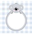 koala frame vector image vector image
