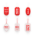 marketing price tags flat set vector image