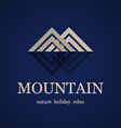 mountain symbol design template vector image vector image