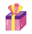 present gift box with crown accessory vector image vector image