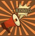 retro vintage megaphone vector image