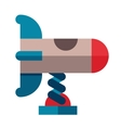 Rocket swing icon in flat style vector image