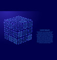 rubiks cube dismantled from futuristic polygonal vector image vector image