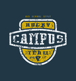 Rugby campus team badge with shabby vector image vector image