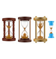 sand watches retro hourglasses vintage history vector image
