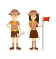 Scout people vector image vector image