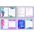 Set of brochure design templates cover
