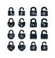 set of locks icons vector image