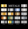 set realistic metallic gradients vector image vector image